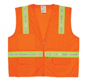 2W 8038-A XL Multi-Pocket Surveyor Vest - Orange Extra Large
