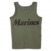 Fox Outdoor 64-691 S Mens Tank Top Olive Drab Marines - Small