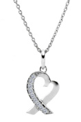 Glimmering GP006-CR 14 W X 27 H mm. Round Shape Rhodium Plated Crystal With. Crystals Pendant