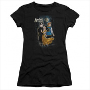 Archie Comics-Cover No. 146 - Short Sleeve Junior Sheer Tee Black - Small