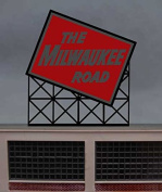 1072 Small Model Milwaukee RR Animated Lighted Sign by Miller Signs