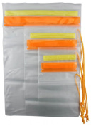 SE TP126-3 Set of 3 Waterproof Plastic Pouches with Hook & Loop Closure for Water Activities, Vacation, Cruises, Boating, Fishing & More