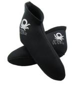 3mm OctoBlue Neoprene Pull-On Kids Children's Youth Short Socks Snorkel Snorkelling Socks Scuba Water Sports