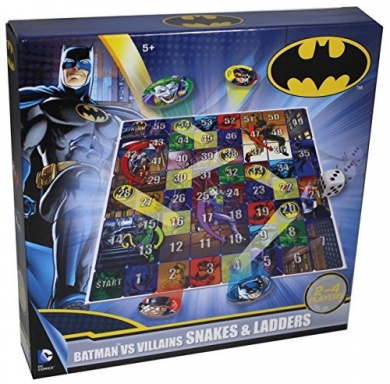 Snakes & Ladders Batman VS Villains 2-4 Player Family Board Game