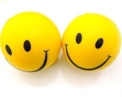 Generic Smiley Sponge Ball Solid Happy Face Squeeze Pack of 12