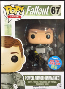 Fallout Pop! Vinyl Figure Power Armour Unmasked Limited Edition NYCC Exclusive