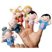 Baby Finger Puppets Koly 6PCS Soft Family Members Puppet Finger Plush Toys Gift