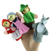 Baby Finger Puppets Koly 4PCS Little Red Riding Hood Animal Finger Puppet Dolls Educational Toys Christmas Gift
