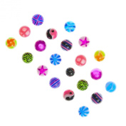Claire's Girls and Womens Mixed Replacement Balls with Animal Print, Multicolour