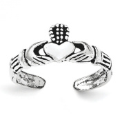 Sterling Silver Claddagh Toe Ring - JewelryWeb