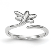 Sterling Silver Dragonfly Toe Ring - JewelryWeb