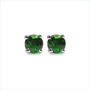 Jewellery-Schmidt-Rare green Tsavorite Earrings-Sterling Silver Rhodium-0, 76 carats