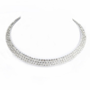 Sarahbridal Elegant Wedding Necklace Bridal Accessories Girls's Party Jewellery Evening S15052