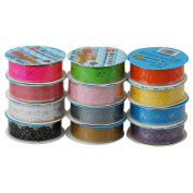 set of 12 rolls Lace Washi Tape (1.8cm*1m) - Colourful