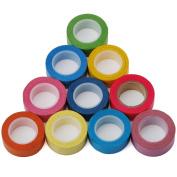 10 rolls Washi Decorative Tape (1.5cm*10m) - Colourful