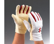 grey-NICOLLS Chamois Padded Wicket Keeping Inner Gloves, Mens