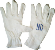 ND Cricket Batting Cotton Inner Gloves Plain White