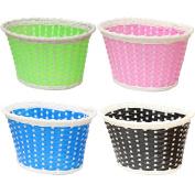 PedalPro Small Plastic Wicker Childrens Bicycle Basket