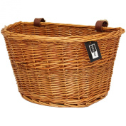 PedalPro Vintage Wicker Bicycle Basket with Leather Straps