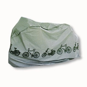 # 24 * scooter moped bike Bicycle shed Bicycle Protective Case Cover Cover tarpaulin in silver Dimensions 110 x 185 cm