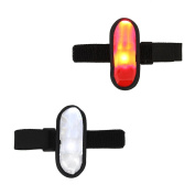 iQualTech Arm Wearable LED Bike Lights Set of White and Red Arm LED Bike Lights
