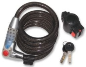 Cutting-Edge KASP SECURITY - K750L180 - CABLE BIKE LOCK COMBI 12X1800MM - (Pack of 1) - Min 3yr Cleva® Warranty