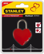 Stanley 81200 3-Digit Heart-Shaped Padlock - Red