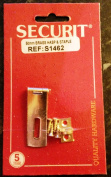 5.1cm INCH BRASS HASP AND STAPLE WITH SCREWS