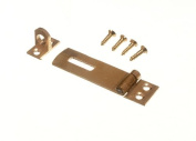 SECURITY HASP AND STAPLE FOR PAD LOCKS BRASS 50MM WITH SCREWS