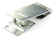 "90mm (3.5"") - Hasp and Staple Gate Door Shed Latch Lock For Padlocks Zinc"