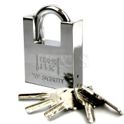 H & S® 5 Keys 60mm Heavy Duty Warehouse Container Garage Shutter Padlock Gate Chain Lock