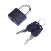 SODIAL(R) Small Mini Strong Steel Padlock Travel Lock with 2 Keys