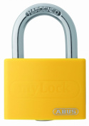 ABUS 65AL40YEL Open Shackle Padlock - Yellow