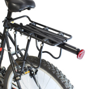 PedalPro Adjustable Rear Bicycle Pannier Rack with Reflector