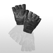 PrimeLeather Quality Real Leather Soft Fingerless Gloves For Weight Training Cycling Bike Wheelchair GYM Etc Medium