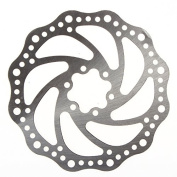 Generic MTB 6 Holes 160mm Brake Disc Rotor for Montaind Bike Bicycle Stainless Steel---Silver Colour