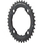 Truvativ MTB Chainring 36T 4 Bolt 104 mm Bolt Centre Diameter Aluminium No Pin 2 x 10 Speed Drive (36-22) S1 (49 mm Chainline) - Blast Black