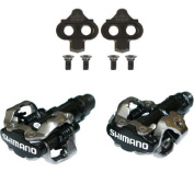 "Shimano PDM520 Clipless SPD Bicycle Cycling Pedals BLACK ""With Cleats"""