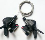 Shimano Rapid Fire Shifter 3*8 S, Left 3 Spead, Right 8 Speed, SL-M310