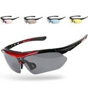 Signstek Sports Cycling Running Sunglasses Polarised UV400 Exchangeable 5 Lenses