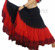 Dancers World Womens Gypsy 25 Yard 3 Colour Cotton Skirt- FREE UK DELIVERY WITHIN 2 DAYS