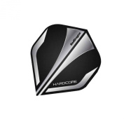 F6224 Hardcore Black & Silver Extra Thick Standard Dart Flights - 5 sets Per Pack