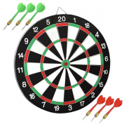 chinkyboo DARTBOARD DART BOARD WITH 6 DARTS IDEAL FOR KIDS