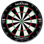 Nodor Supamatch 2 Bristle Dartboard - Black