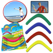 KIDS ADULT PLASTIC BOOMERANG PINK GREEN YELLOW BLUE SUMMER FUN GARDEN GIRL BOY