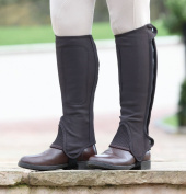 Shires Synthetic Nubuck Half Chaps Childs