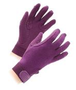 Shires Newbury Childs Kids Cotton Gloves - Purple