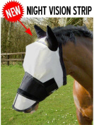 GEE TAC ULTIMATE FULL FACE UV RATED FLY MASK (WHITE REFLETCS UV SUN LIGHT BLACK ABSORBS IT)**(PLEASE EMAIL US YOUR SIZE THOUGH AMAZON)**