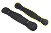 HyCOMFORT Girth Cover - Provides Comfort & Prevents Rubbing For The Horses - 80cm - Available In Black Or Black / Natural