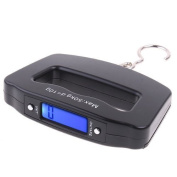 Mixed-Gadgets Mini Digital Hanging Luggage Fishing Scale 50kg*10g Black